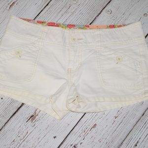 "HOLLISTER Low Rise 2"" Shorts Flap Button Pockets"